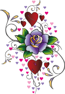 Роскошный вибратор RO-160mm Hearts N' Roses